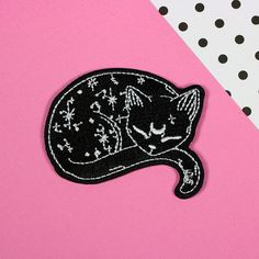 Mystical Cat Woven Patch from Punky Pins