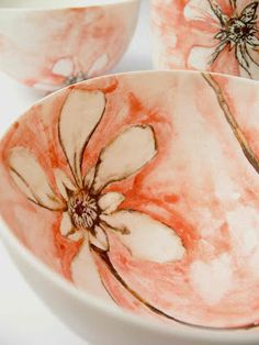 Ceramic Painting, Ceramic Artists, Pottery Bowls, Pottery Art, Clay Texture, Pottery Designs, Pottery Ideas, Painted Pots, Ceramic Decor