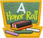 """A"" Honor Roll patch - free shipping!"