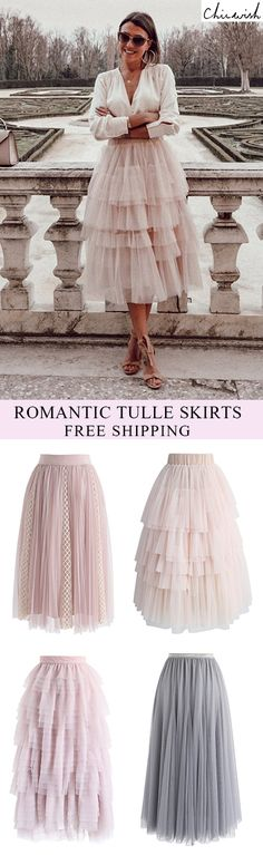 We get it! This layered tulle skirt in a confectionary pink has us head over heels in love. Love Me More Layered Tulle Skirt featured by Cristinasur Look Fashion, Autumn Fashion, Fashion Outfits, Feminine Fashion, Lolita Fashion, 70s Fashion, Modest Fashion, Stylish Outfits, Korean Fashion