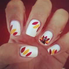 Thanksgiving #nails #nailart