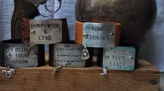 Hand Stamped Metal  and Leather Cuff Bracelet And Charm. Country Girl. Follow Your Arrow, Gunpowder &  Lead, Hide Your Crazy, Or Your Saying by STAMPEDSTATEMENTS on Etsy https://www.etsy.com/listing/150554532/hand-stamped-metal-and-leather-cuff