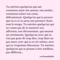 Fact Quotes, Life Quotes, Silence Quotes, French Quotes, Positive Attitude, Love Words, Healthy Relationships, Positive Affirmations, Sentences