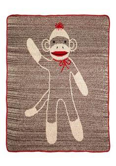 Sock Monkey Blanket = Rigsby Christmas Present Snuggly Sidekick Throw Blanket, #ModCloth