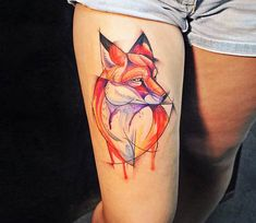 Foxy tattoo by Kati Berinkey