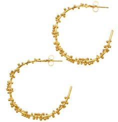 hannah bedford - gold granulated hoop earrings