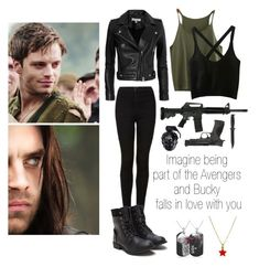 """Imagine being part of the Avengers and Bucky falls in love with you"" by laurianne-lzr on Polyvore featuring art"