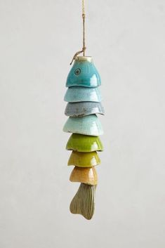 Good Cost-Free Slab pottery wind chimes Style Coldwater Catch Wind Chime – anthropologiecom Saw this tutorial on making one out of leftover eas Slab Pottery, Ceramic Pottery, Pottery Art, Ceramic Art, Pottery Sculpture, Pottery Houses, Hand Built Pottery, Ceramic Birds, Pottery Mugs