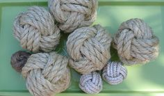 Decorator Rope Balls - Monkey's Fist Knot How To for displa