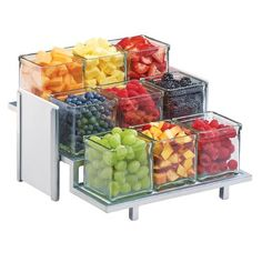 Cal-Mil 3 Tier Display Stand - 13 x 13 x Silver/White Juice Bar Design, Do It Yourself Food, Road Trip Snacks, Cooking Recipes, Healthy Recipes, Detox Recipes, Food Platters, Food Displays, Salad Bar