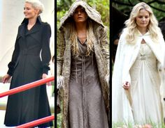 Emma Swan in her several different outfits which is leaving the fandom so very confused.