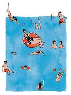"Illustration Christiane Herrmann: Illustration für ""Psychologie Heute"" Maus Illustration, Beach Illustration, Summer Art, Summer Kids, Illustrator, Psychology Today, Lettering Design, Lovers Art, Amazing Art"