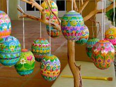 fabulous painted eggs
