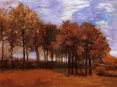 Vincent van Gogh Autumn Landscape Painting