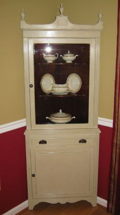 35 best corner china hutch images corner cabinets dining room shell rh pinterest com