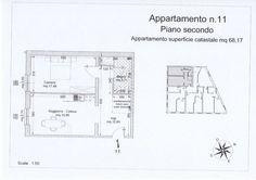 App. n° 11 - Ingresso, soggiorno con angolo cottura, camera, bagno. Predisposizione per scala a chiocciola per accesso ad eventuale mansarda abitabile. Comune di Campiglia Marittima (LI)
