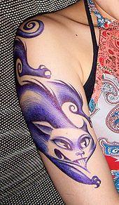 Lennie Mace ballpoint pen temporary tattoo