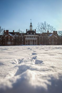 Winter time at Miami University in Oxford, OH