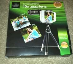 NEW THE SHARPER IMAGE 10X ZOOM LENS SMARTPHONE ANDROID IPHONE 4 4S 5 RETAIL59.99