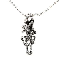 Constructan(TM) Unique Punk Style Skull Hug Skeleton Love Pendant Necklace Chain Jewelry for Man Woman Couple Gift by Constructan -- Awesome products selected by Anna Churchill