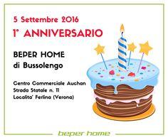 Già un anno. Il 5 settembre 2015 si inaugurava al centro commerciale Auchan di Bussolengo (VR) il negozio BEPER HOME. Se ti capita di essere da queste parti, vieni a trovarci e a scoprire tutti gli esclusivi articoli BEPER.  @beperhome #bepershops #anniversary