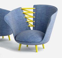 Corsetto armchair by Vincenzo Invernizzi