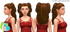 Sims 4 CC's - The Best: Half Up Half Down Hair for Females by SimLaughLove...