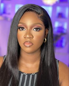 Gorgeous Women, Beautiful, African Beauty, Black Women Hairstyles, Makeup Looks, Wigs, Lady, Hair Styles, Hairstyles For Black Women