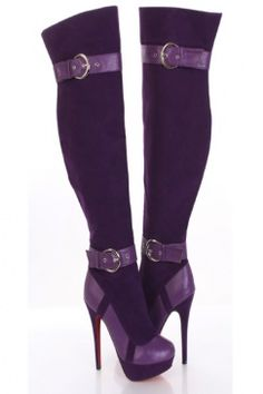 purple boots for women | ... Boots / Sexy Clubwear | Party Dresses ...