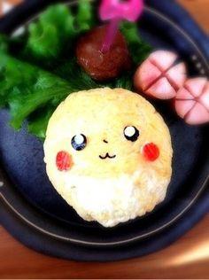 Ball pikachu onigiri