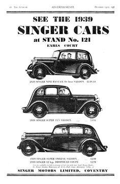 Singer Nine 9 Bantam. Super Ten 10 & Super Twelve 12 Motor Car Autocar…