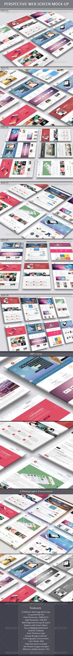 Perspective Web Screen Mock-Up - Website Displays Mockup - Website Mockup Design - Download Here : http://graphicriver.net/item/perspective-web-screen-mockup/6993268?s_rank=1&ref=yinkira