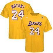 #NBAStore.com - #NBAStore.com Mens Los Angeles Lakers Kobe Bryant adidas Gold Net Number T-Shirt - AdoreWe.com