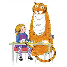 Tiger, Mog and Pink Rabbit: A Judith Kerr Retrospective Ramones, Albin Michel Jeunesse, Pink Rabbit, Children's Book Illustration, Book Illustrations, Vintage Children's Books, Children's Literature, I Love Cats, Cat Art