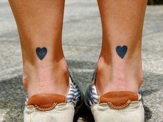 simple twin heart tattoos