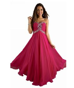Possible bridesmaid dress (love the laceup back) ...IDOBRIDAL Strapless Beaded Bridesmaid Evening Party Prom Chiffon Gown Dress 10-Hot Pink USsize10 IDOBRIDAL http://www.amazon.com/dp/B00IWTARBS/ref=cm_sw_r_pi_dp_EcCNtb0K8DXF09JP