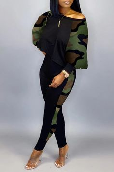 Lovely Casual Camouflage Printed Two-piece Pants Set Wholesale Clothing Online Store. We Offer Top Good Quality Cheap Clothes For Women And Men Clothing Wholesaler, # Winter Fashion Outfits, Look Fashion, Camo Fashion, Cheap Fashion, Wholesale Shoes, Wholesale Clothing, Two Piece Rompers, Two Piece Pants Set, Cute Swag Outfits