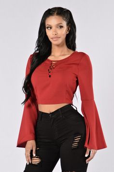 To be acquired | tunic style crop red