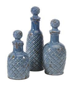 3-Piece Piazza Bottle Decor Set