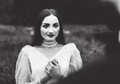 by Studio Obrazkowe / #romantic #emotions #love #weddingsession #couple #groom #bride #wedding #gothicbride #gothbride #gothic #newlyweds #poland #vintagedress #analogphotography #filmphotography #bronica