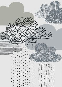 Looks like rain print by EloiseRenouf on etsy.com