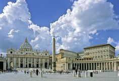 ST. PETER'S BASILICA, VATICAN CITY It is said that the tomb of Peter, one of the 12 apostles of Christ and the first Pope, is buried under the altar. Located within the Vatican City, the basilica was built in the early 17th century.