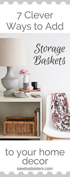 If you are looking to spruce up your home décor, baskets are a handy and inexpensive way to add charm while giving your home extra storage space. Here are a few simple ways to use your decorative baskets to their fullest potential.