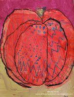 Adventures of an Art Teacher: 1st grade step by step pumpkin drawing instructions.