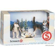 Schleich Scenery Pack 4 Husky Dogs Set - Polyvore