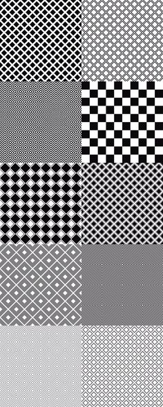 seamless monochrome vector square pattern backgrounds