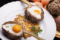 Eggs In Artichokes check them now on Fotolia!  #Stylish #Breakfast #artichoke #baked_eggs #Easter #professional_stock_photos #cuisine #food_styling #Fotolia
