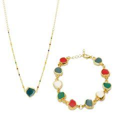 Gosta de combinar o colar com a pulseira?  Então essa é uma combinação perfeita e o melhor é que o preço também é especial. De R$ 74,80 por R$ 63,90 Vem aqui conhecer esta combinação e muitas outras: www.composeacessorios.com.br/colar-forma-azul-pulseira-forma  #composeacessórios #conjunto #pulseira #colar
