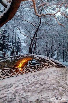 Snowy Levadeia ~ Boeotia, Greece | by Nectaria Foukara