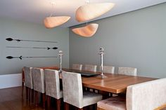 lots of seating space at this dining table!